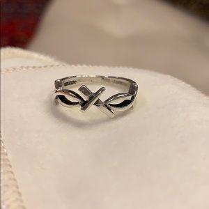 Retired James Avery Ichthus Cross Ring